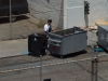 monday 12-jul-2010:  sunnyside sro hotel employee illegally dumping their garbage
