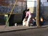 14-dec-2011 mr pink from the hotel henry illegally dumps trash on natoma
